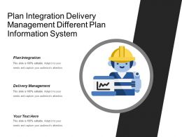 Plan Integration Delivery Management Different Plan Information System