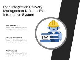 Plan Integration Delivery Management Different Plan Information System