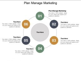 Plan Manage Marketing Ppt Powerpoint Presentation Professional Example Cpb