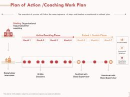 Plan Of Action Coaching Work Plan Stakeholder Interviews Ppt Powerpoint Presentation Slide
