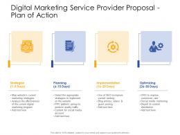Plan Of Action Digital Marketing Service Provider Proposal Ppt Powerpoint Presentation File
