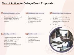 Plan Of Action For College Event Proposal Ppt Powerpoint Presentation Show Tips