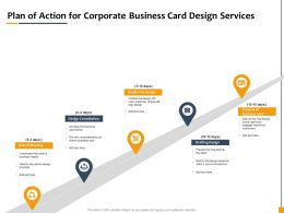 Plan Of Action For Corporate Business Card Design Services Ppt Powerpoint Gallery Show