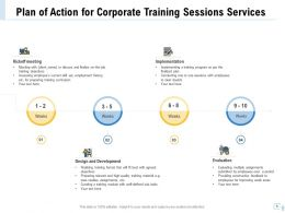 Plan Of Action For Corporate Training Sessions Services Ppt File Design