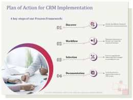 Plan Of Action For CRM Implementation Workflow Ppt Icon