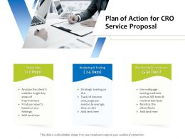 Plan Of Action For CRO Service Proposal Ppt Powerpoint Presentation Summary