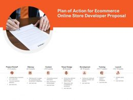 Plan Of Action For Ecommerce Online Store Developer Proposal Ppt Powerpoint Presentation Outline Diagrams