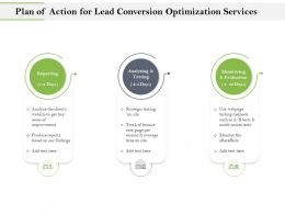 Plan Of Action For Lead Conversion Optimization Services Ppt Outline
