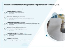 Plan Of Action For Marketing Tasks Computerization Services Research And Analysis Ppt Presentation Icon
