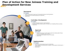 Plan Of Action For New Joinees Training And Development Services Ppt File Show