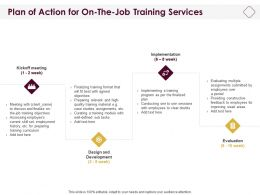 Plan Of Action For On The Job Training Services Ppt Powerpoint Design Ideas