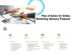 Plan Of Action For Online Marketing Advisory Proposal Ppt Powerpoint Clipart