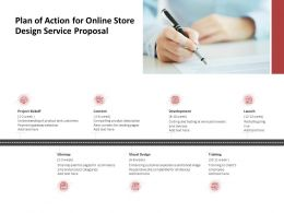 Plan Of Action For Online Store Design Service Proposal Ppt Powerpoint Deck