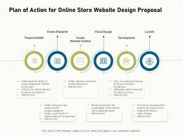 Plan Of Action For Online Store Website Design Proposal Ppt Inspiration