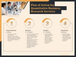 Plan Of Action For Quantitative Business Research Services Ppt File Display