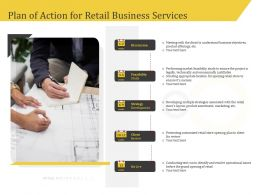 Plan Of Action For Retail Business Services Review Ppt File Slides