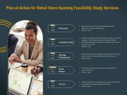 Plan Of Action For Retail Store Opening Feasibility Study Services Ppt Powerpoint Model