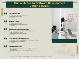 Plan Of Action For Software Development Design Services Ppt Topics