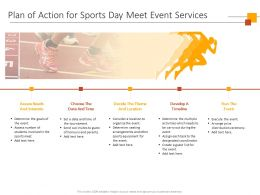 Plan Of Action For Sports Day Meet Event Services Ppt Powerpoint Presentation Template