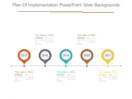 Plan Of Implementation Powerpoint Slide Backgrounds