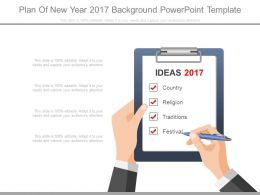 Plan Of New Year 2017 Background Powerpoint Template