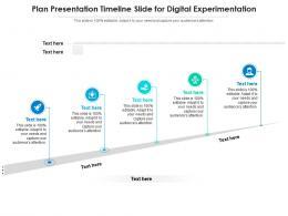Plan Presentation Timeline Slide For Digital Experimentation Infographic Template