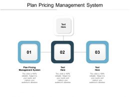 Plan Pricing Management System Ppt Powerpoint Presentation Infographics Cpb