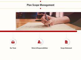 Plan Scope Management Statement Ppt Powerpoint Presentation Backgrounds