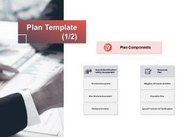 Plan Template Response Components Ppt Powerpoint Presentation Gallery Display