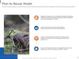Plan To Reuse Waste Municipal Solid Waste Management Ppt Background
