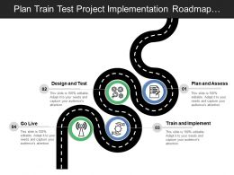 Plan Train Test Project Implementation Roadmap With Icons