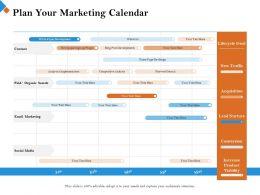 Plan Your Marketing Calendar Sign Up Plugin Ppt Powerpoint Presentation Styles Master Slide