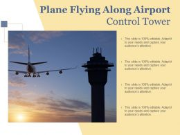 Plane Flying Along Airport Control Tower