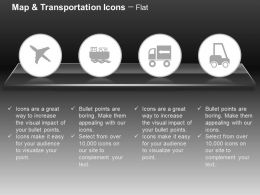 Plane Truck Forklift Ship Ppt Icons Graphics