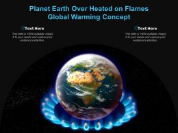 Planet Earth Over Heated On Flames Global Warming Concept