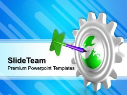 Planetary Gear Powerpoint Templates With Earth Global Ppt Themes