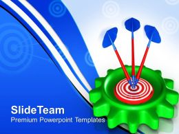 Planetary Gear Powerpoint Templates With Target Success Ppt Themes
