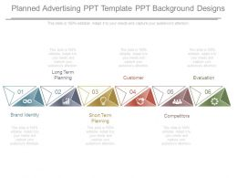 Planned Advertising Ppt Template Ppt Background Designs
