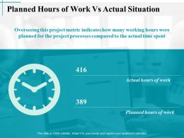 Planned Hours Of Work Vs Actual Situation Actual Hours Of Work Ppt Slides