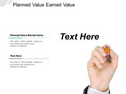 Planned Value Earned Value Ppt Powerpoint Presentation Layouts Sample Cpb