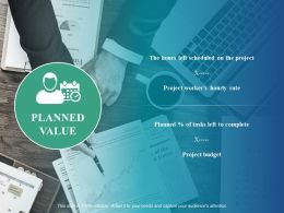 Planned Value Project Budget Ppt Powerpoint Presentation Professional Sample