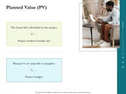 Planned Value PV Project Success Metrics Ppt Inspiration Slide