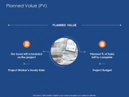 Planned Value Pv Success Evaluation Ppt Powerpoint Presentation Model Backgrounds