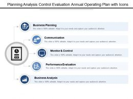 Planning Analysis Control Evaluation Annual Operating Plan With Icons