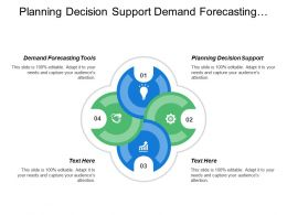 Planning And Decision Support Demand Forecasting Tools Concept Screening