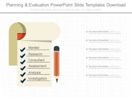 Planning And Evaluation Powerpoint Slide Templates Download