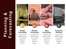 Planning And Forecasting Ppt Slide Design