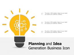Planning And Idea Generation Business Icon