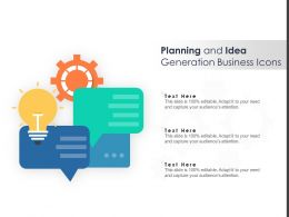 Planning And Idea Generation Business Icons