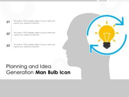 Planning And Idea Generation Man Bulb Icon